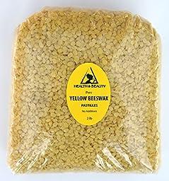Yellow Beeswax Bees Wax Organic Pastilles Beads Premium Prime Grade A 100% Pure 32 oz, 2 LB