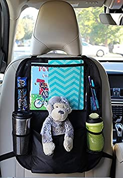 Stylish 2Pack 600D Backseat Car Organizer Compatible with iPad and Tablet Holder Durable