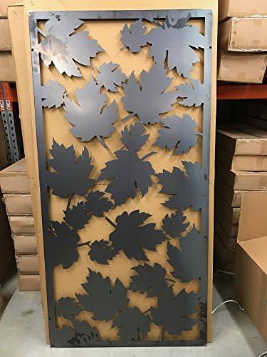 Pantalla de metal para jardín selección en acero Corten con Beautiful cortado a láser Diseño 180 cm x 90 cm: Amazon.es: Jardín