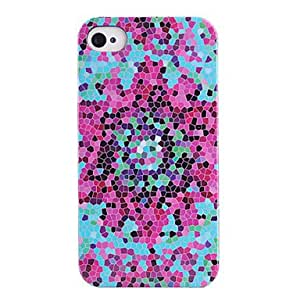 Joyland Color Honeycomb Pattern ABS Back Case for iPhone 4/4S