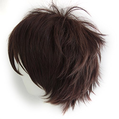 Max Beauty Unisex Anime Short Cosplay Short Wigs With Bangs Heat Resistant Hair for Party and Halloween for Gift + Free Cap -