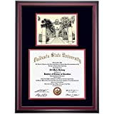 Valdosta State Blazers Diploma Frame Black Red Matting Pen & Ink