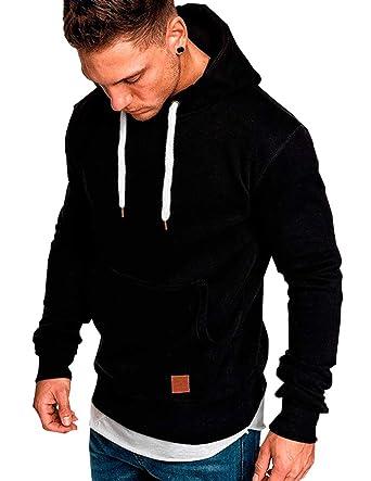 Sudaderas para Hombre Casual Moda Sudadera con Capucha Hoodies Jersey Sweatshirt Deportivas Chico Caballero Camisas Chaqueta Camiseta Top Blouse Outwear ...