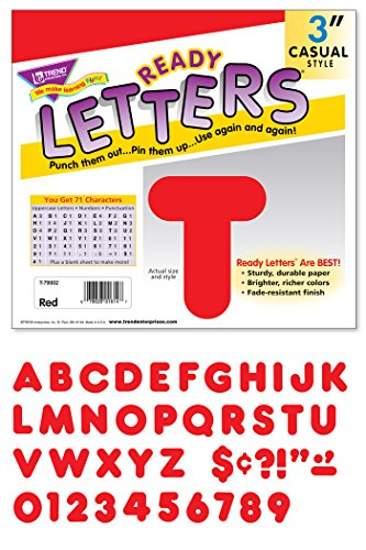 "TREND enterprises, Inc. Red 3"" Casual Uppercase Ready Letters -  T-79002"