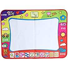 "Aqua Doodle Drawing Mat and Magic Pen, Water Drawing Mat Board Educational Toy for Children 31.5"" x 23.62"""