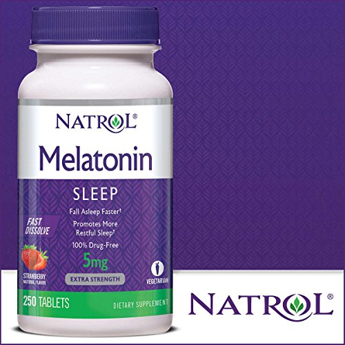 Natrol Melatonin 5 mg, Strawberry Flavor, Fast Dissolve Tablets, 250 Count by Natrol (Image #2)
