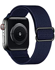 SIRUIBO Stretchy Nylon Solo Loop Bands Compatible with Apple Watch 38mm 40mm 42mm 44mm, Adjustable Stretch Braided Sport Elastics Women Men Strap Compatible with iWatch Series 6/5/4/3/2/1 SE
