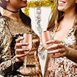 Stainless Steel Copper Champagne Flutes Glass Set
