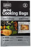 reynolds hot bags - QBAG Set of 3 Large Oven & BBQ Cooking Bags - 2-in-1 Steam and Roast, Heavy Duty Aluminum Foil Grill Bags