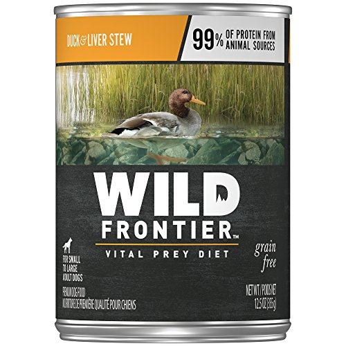 Wild Frontier Vital Prey Wet Dog Food Duck & Liver Stew, (12) 12.5 Ounce Cans