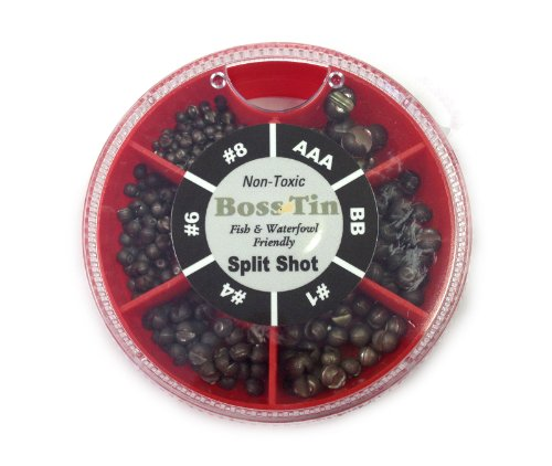 UMPQUA - Boss Tin 6-Way Oval Split Shot Dispenser