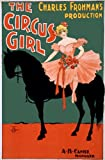 """13x19"""" Inches Poster. """"The Circus Girl"""". Decor with Unusual Images. Great Roo..."""