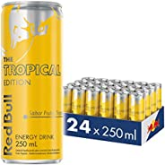 Energético Tropical Red Bull Energy Drink Pack com 24 Latas de 250ml