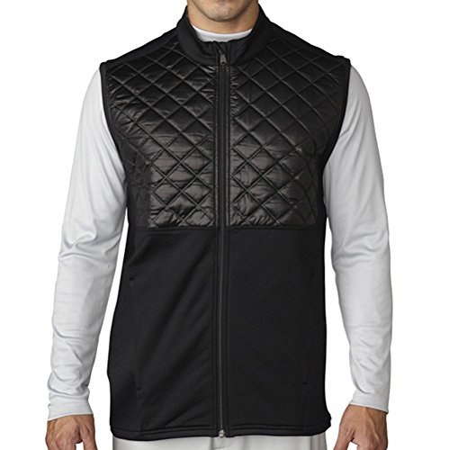 Adidas ClimaHeat Prime Quilted Full Zip Golf Vest 2016 Black Medium