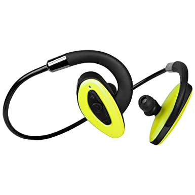 HXY auricular bluetooth resistente al agua IPX7 Natación auriculares inalámbricos de diadema verde de memoria 16