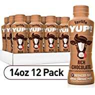 fairlife YUP! Low Fat, Ultra-Filtered Milk, Rich Chocolate Flavor, All Natural Flavors (Packaging May Vary), 14 fl oz, 12 count