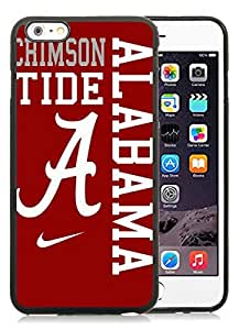 Southeastern Conference SEC Football Alabama Crimson Tide Black iPhone 6 Plus 5.5 inch TPU Cellphone Case Luxurious and Newest Design