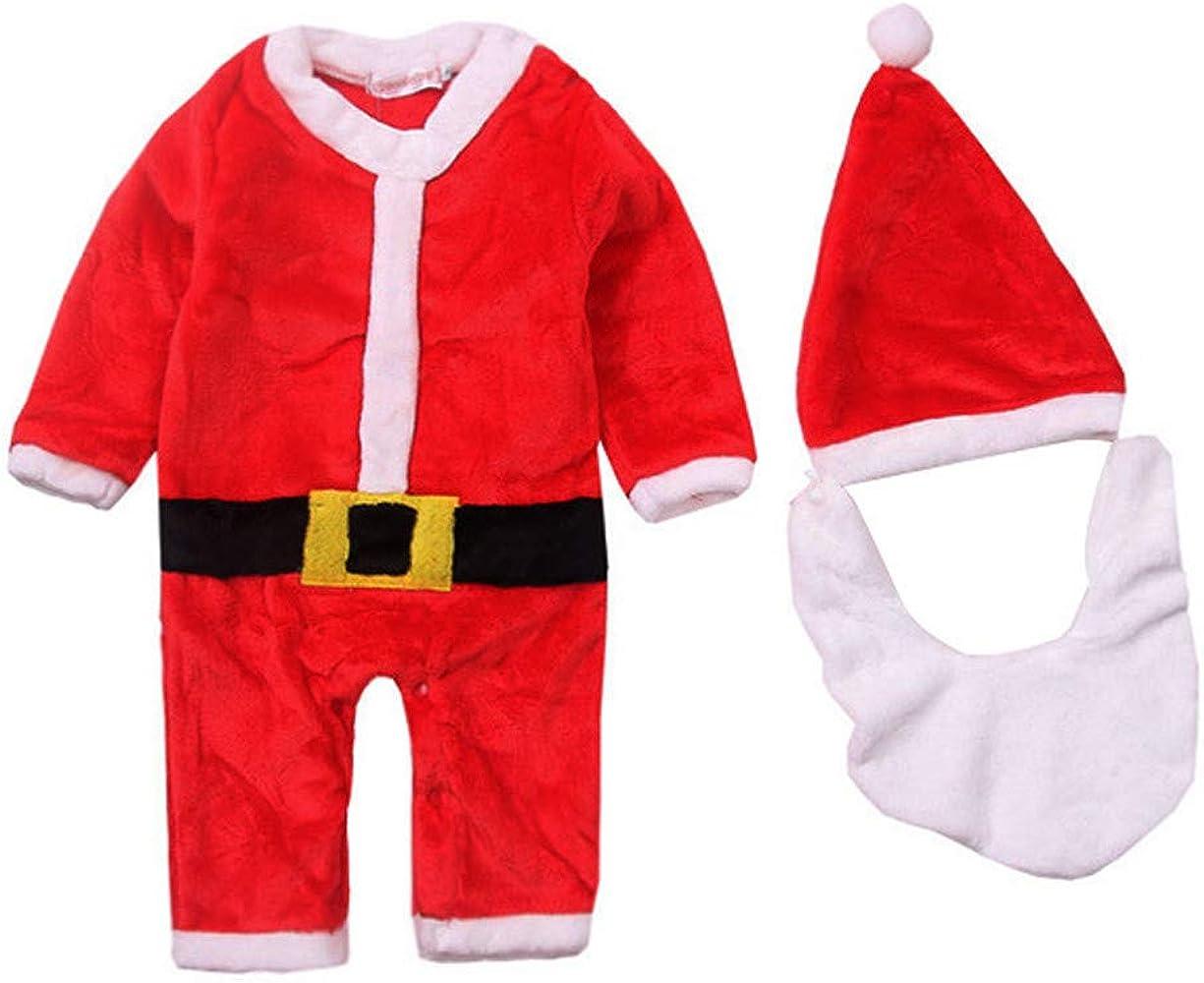 MYONA Traje de Navidad Bebé, Mameluco de Bebé con Estampado de ...