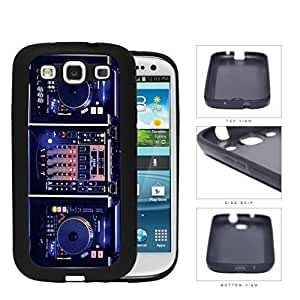 DJ Turntables With Glow Neon Lights Rubber Silicone TPU Cell Phone Case Samsung Galaxy S3 SIII I9300