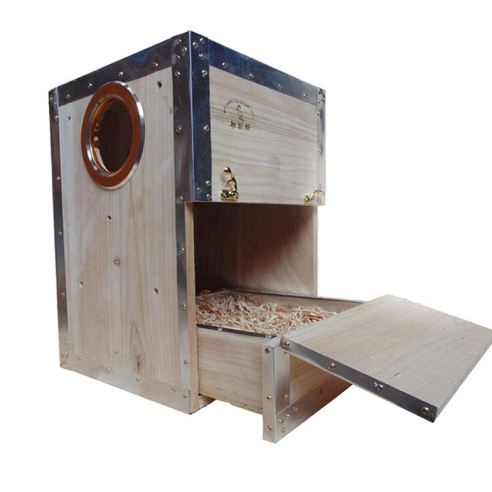 D OneSize(252535cm) D OneSize(252535cm) YANJJJ Solid Wood Bird greenical Breeding Box, Suitable For Cyclone, Sun, Parred, 25  25  35cm,D-OneSize(25  25  35cm)