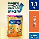 Leche de Crecimiento para Niños mayores de 12 Meses Enfagrow Premium Etapa 3 En Polvo Sabor Vainilla Caja de 1,100 gramos