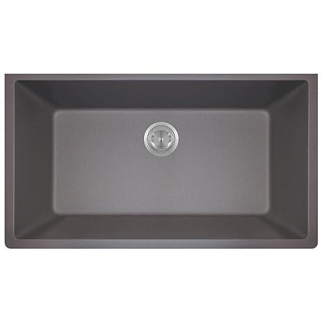 ... Kitchen Sink Quartz On Quartz Kitchen Backsplash, Quartz Kitchen  Clocks, Stainless Steel Rectangular Undermount ...