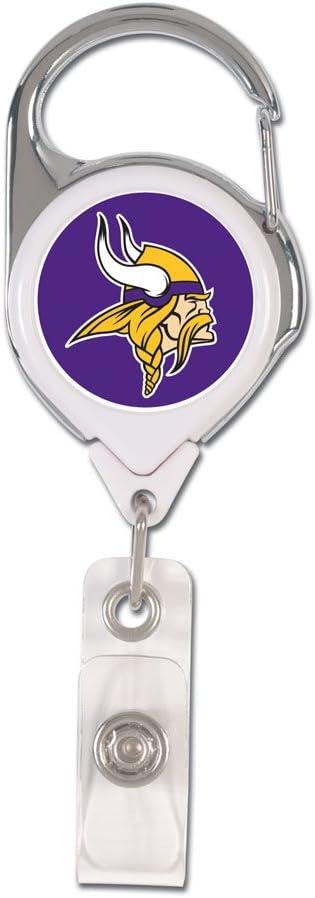 WinCraft NFL Minnesota Vikings Retractable Premium Badge Holder, Team Color, One Size