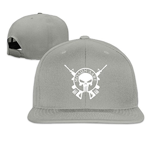 Fashion Unisex Molon Labe Punisher Army Flat Snapback Baseball Cap - Fashion Fresno Fair