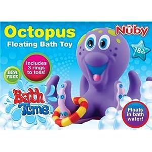 Nuby Octopus Floating Bath Toy Multi Coloured