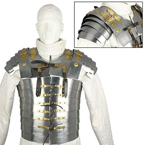 - MedievalDepot Roman Soldier Military Lorica Segmentata Body Armor
