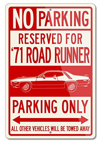 Legend Lines Plymouth Road Runner 1971 440 Coupe Reserved Parking Only Aluminum Sign (Large)