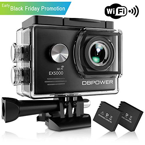 DBPOWER EX5000 Action Camera , 14MP 1080P HD WiFi Waterproof for sale  Delivered anywhere in USA