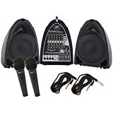 Peavey PVI Portable Powered Audio System 300 Watts 8 Channels USB w/ 2 Mics and XLR Cables