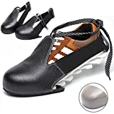 Hoogoal Pro-Tek-To Shoe Caps, Steel Toe Work Shoes Cover - Protective Safety Shoes Boot Sneaker Foot Protection Toe Guard, Size Adjustable