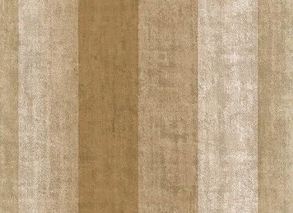 Carta Da Parati A Righe Beige : Carta da parati a strisce beige ed oro effetto tessuto invecchiato