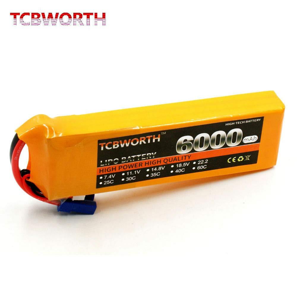 FidgetGear 7.4V 60C 6000mah 2S LIPO Li-ion Polymer Rechargeable Battery for RC Drone Car B07RY2HV71