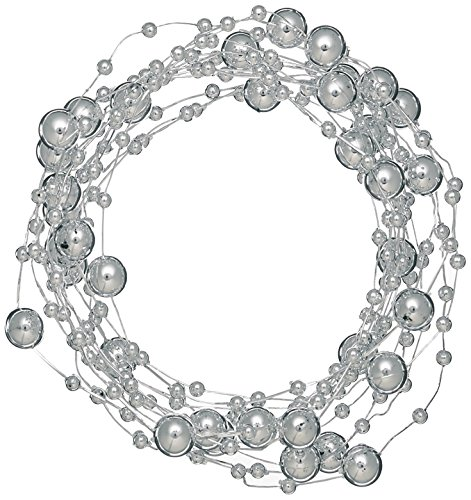 Beaded Wire Garland 3 Yards/Pkg-Silver