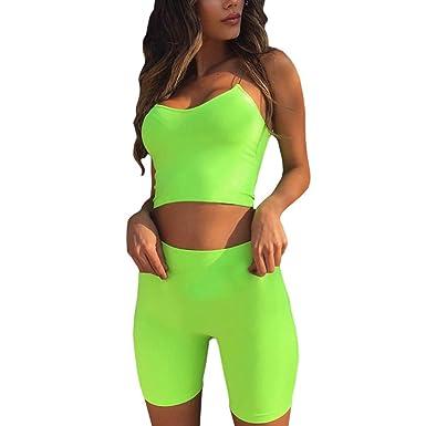 hibote Sexy chándal Mujer Yoga Set Gym Ropa Leggings sin Costuras ...