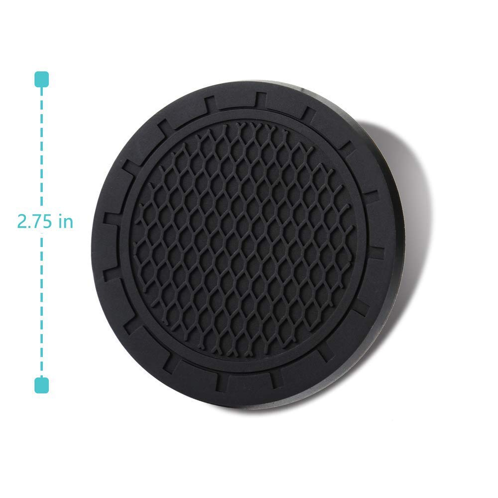Wall Stickz 2.75 Inch Diameter Oval Tough Car Logo Vehicle Travel Auto Cup Holder Insert Coaster Can 2 Pcs Pack Without Logo