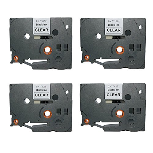 Ouguan Ink 4 Pack Laminated Label Tape Compatible …