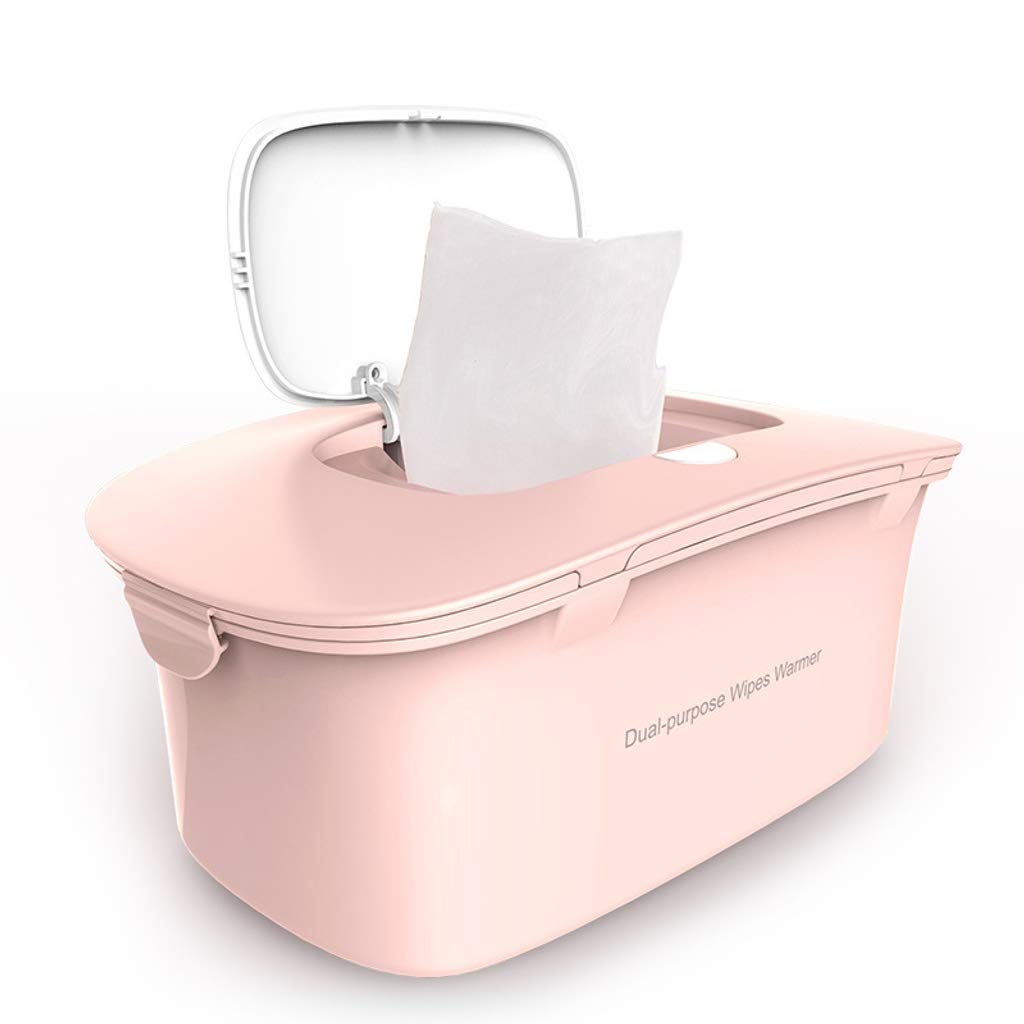 Wipes Heater Warmer, Portable Thermostat Wipes Machine Warm Wipes Heating Box Convenient, for Baby/Child-Pink by HOCOL