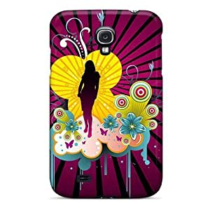 Excellent Galaxy S4 Case Tpu Cover Back Skin Protector Beautiful Girl Vector by heywan