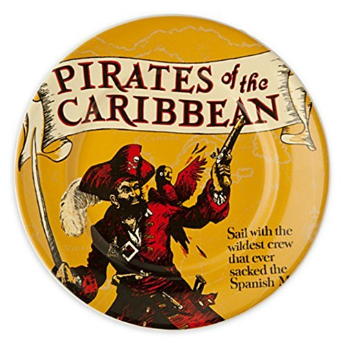 Disney Parks Attraction Poster Plate - Pirates of the Caribbean - (7' Square Dessert Plates)