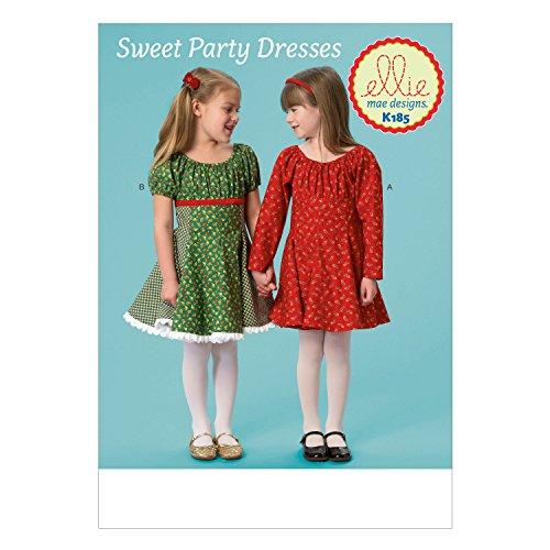 KWIK SEW PATTERNS K0185 Girls Dresses