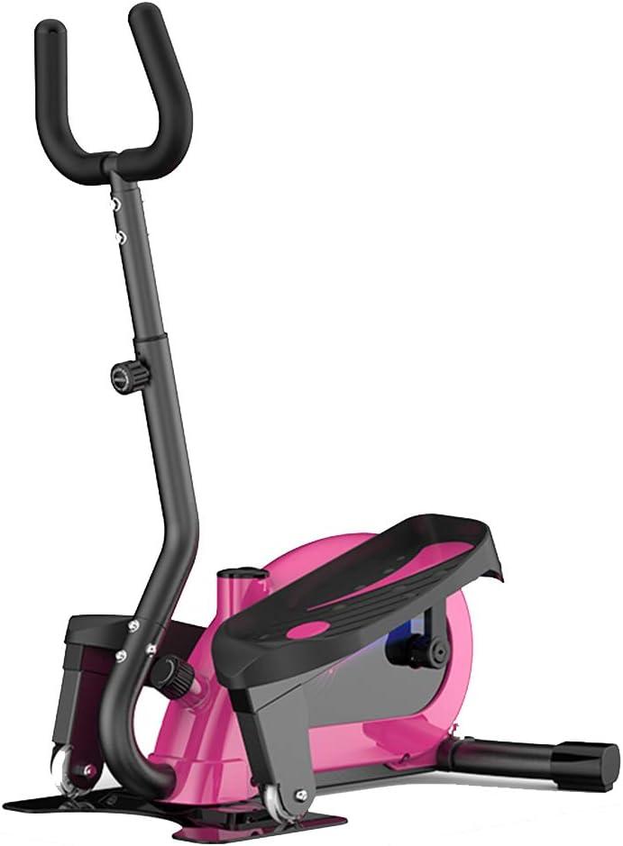 YNLRY Inicio Paso A Paso De Tubo De Estufa Buhonero Pequeño Gimnasio De Escalada Paso A Paso De La Máquina Elíptica Cinta 120kg Portante Conteo Inteligente (Color : Pink, Size : 115 * 25 * 58CM)