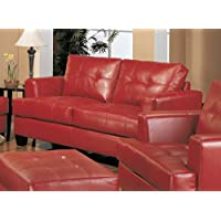 Coaster Home Furnishings Casual Contemporary Loveseat, Red