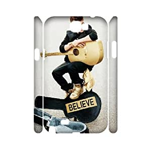 3D Samsung Galaxy Note 2 Case Funny Design Justin Bieber Guitar, Justin Bieber Samsung Galaxy Note 2 Cases [White]