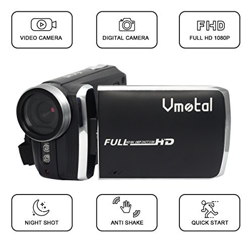 Video Camcorder, Vmotal HD 1080P Anti Shake Camera Camcorder with LCD and 270 Degree Rotation Screen (Christmas 2048x1536)