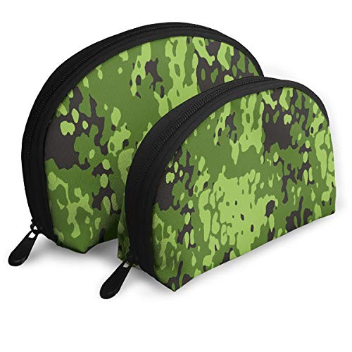 Makeup Bag Military Camouflage Pattern Portable Shell Makeup Case For Women Easter Gift 2 Pack -