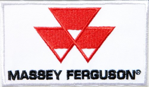 [MASSEY FERGUSON Tractor Logo Patch Sew Iron on Applique Embroidered T shirt Jacket Custom Gift BY] (Power Loader Costume Baby)